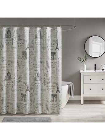 510 DESIGN - Marseille Paris Printed Shower Curtain GREY