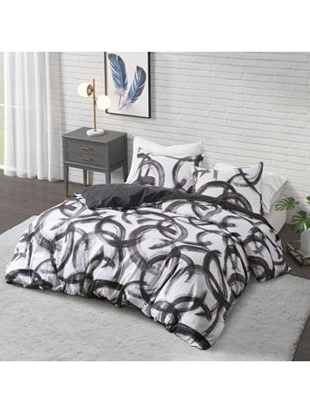 COSMOLIVING - Anaya Printed Duvet Cover Set BLACKWHITE