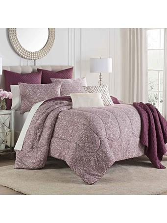 MARTEX - Savino 8 Piece Comforter Set with Throw PLUM