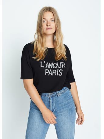 Violeta by MANGO - Amour T-Shirt BLACK