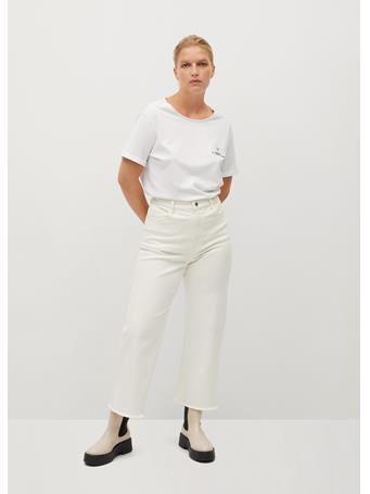 Violeta by MANGO - Fero T-Shirt WHITE