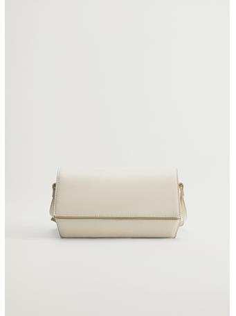 MANGO - Geometric Bag NATURAL WHITE