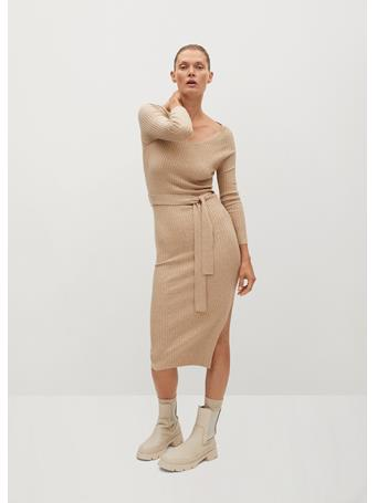 MANGO - Goleta Dress LIGHT-BEIGE