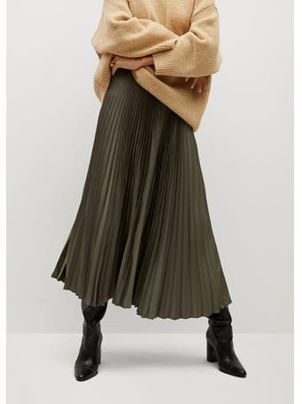 MANGO - Plisado Skirt MEDIUM-BEIGE