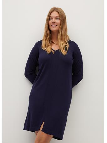 Violeta by MANGO - Agora Dress NAVY