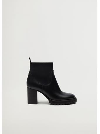 MANGO - Heel Ankle Boots BLACK