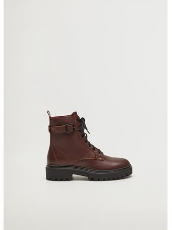 MANGO - Beatle Ankle Boots DARK-RED