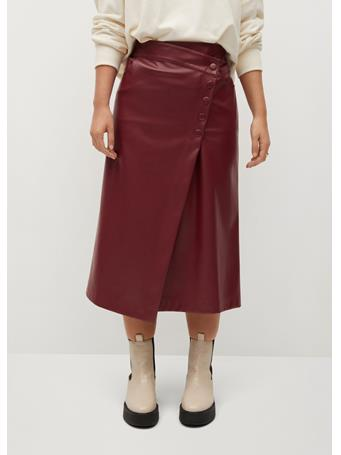 Violeta by MANGO - Grana Skirt DARK-RED