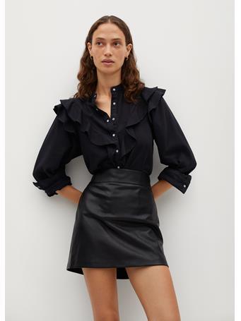 MANGO - Simple Skirt BLACK