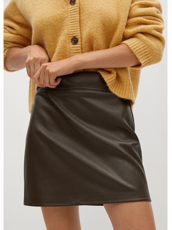 MANGO - Simple Skirt MEDIUM BEIGE