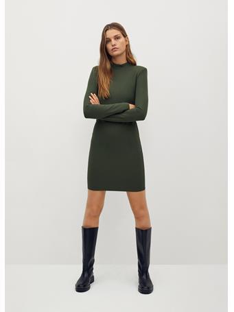 MANGO - Rosario Dress MEDIUM GREEN
