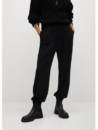 MANGO - Bombay Trousers BLACK