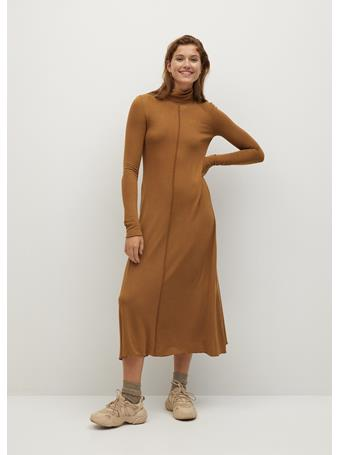 MANGO - Almi Dress MEDIUM-BROWN