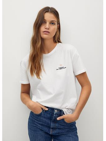 MANGO - Fero Foundation Solidarity T-Shirt WHITE