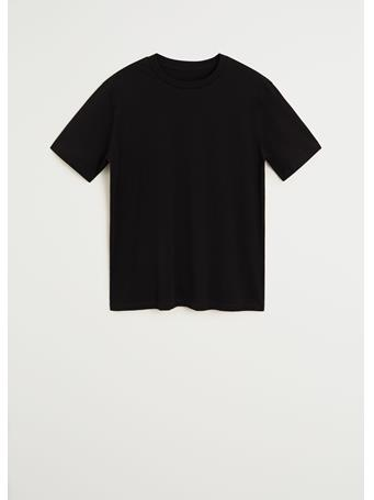 MANGO - Sustainable Cotton T-Shirt BLACK