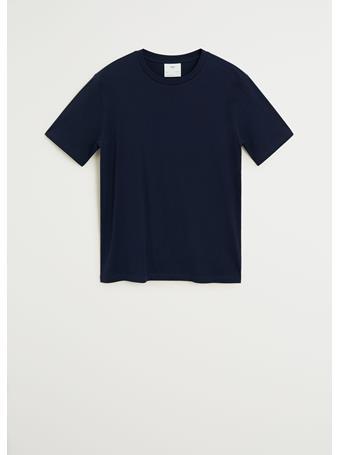 MANGO - Sustainable Cotton T-Shirt NAVY