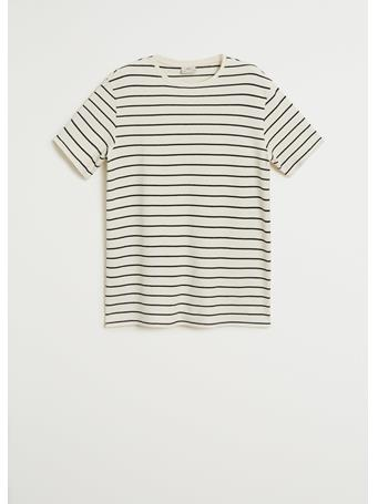MANGO - 100% Cotton Printed T-shirt IVORY
