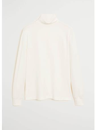 MANGO - Turtleneck Cotton T-shirt OFF-WHITE
