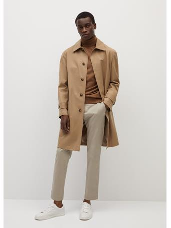 MANGO - 100% Merino Wool Washable Sweater TABACCO