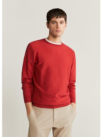 MANGO - Cotton Cashmere-blend Sweater RED