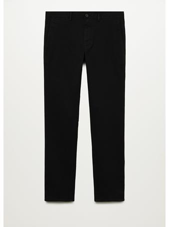 MANGO - Slim Fit Chino Premium Pants BLACK