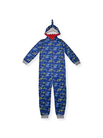 SLEEP ON IT - Shark Pajamas With Hood (6-14) NOVELTY
