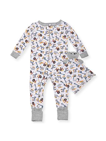 SLEEP ON IT - Coveralls With Toy Safar Print (12M-24M) NOVELTY
