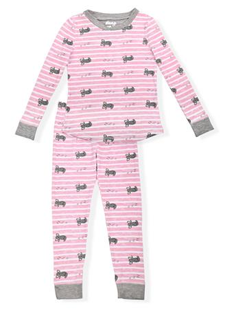 SLEEP ON IT - Kuala Stripes Fitted Pajamas (2T-4T) PINK