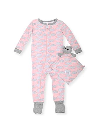 SLEEP ON IT - Coveralls With Toy Cloud Print (12M-24M) NOVELTY