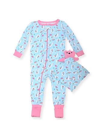 SLEEP ON IT - Coverall With Unicorn Print (12M-24M) NOVELTY