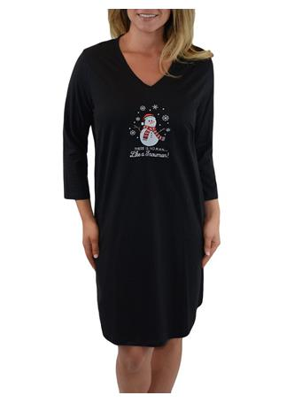 RENE ROFE - Women's Pillow talk Sleepshirt G470-BLACK