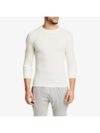 BOTTOMS OUT - Judah Ribbed Long Sleeve Shirt WHITE