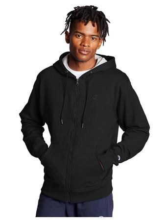 CHAMPION - Powerblend Fleece Full Zip Hoodie BLACK