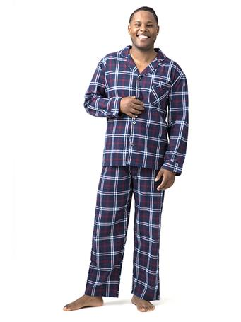 SLEEPGOOD - Flannel Pajama Set NAVY-RED-WHITE-PLAID