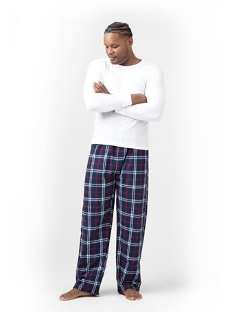 SLEEPGOOD - Waffle Flannel Top and Pant Box Set NAVY-RED-WHITE-PLAID