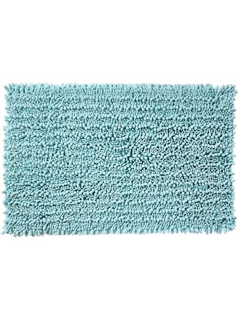 BATH MAT -  Super Bobble, Super soft, & Quick drying Chenille bath mat 54-LT-BLUE
