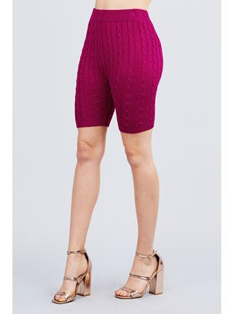 ACTIVE BASIC - Sweater Knit Shorts DK-PURPLE