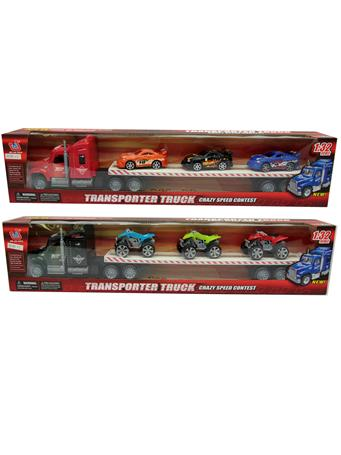 Transporter Truck with Cars or Bikes (4Y+) NOVELTY