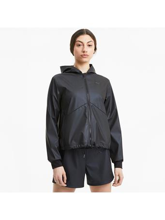 PUMA - Warm-Up Shimmer Hooded rainCELL Women's Training Jacket BLACK