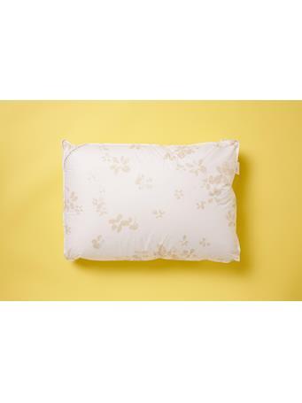 CALVIN KLEIN - Stamped Blossom Gusset Jumbo Pillow WHITE