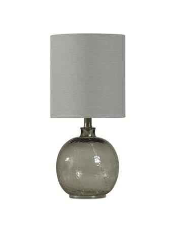 STYLECRAFT - Mini Spanish Glass Ball Lamp  GRAY