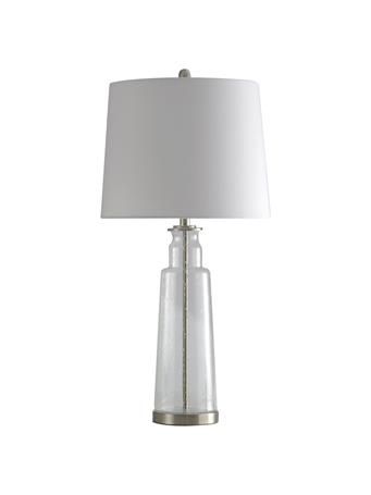 STYLECRAFT - Clear Seeded Glass Table Lamp CLEAR