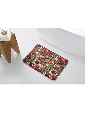 HOLIDAY - HOLIDAY Patch Memory Foam Bath Mat RED