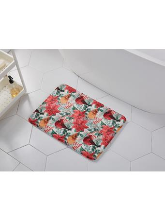 HOLIDAY - I See Birds Memory Foam Bath Mat RED