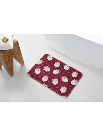 HOLIDAY - Red Santa Memory Foam Bath Mat RED