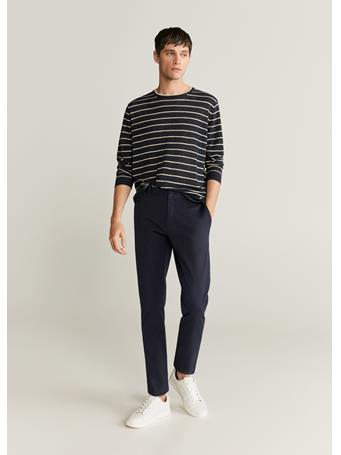 MANGO - Tapered Fit Cropped Pants NAVY