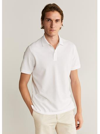 MANGO - Cotton Basic Polo Shirt WHITE