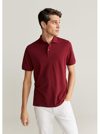 MANGO - Cotton Basic Polo Shirt RED