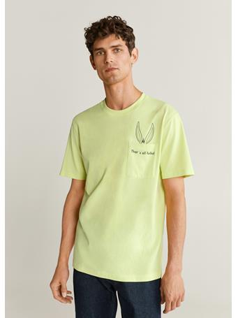 MANGO - Warner Bros Printed Cotton-Blend T-Shirt LIME
