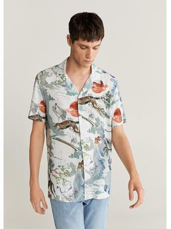 MANGO - Hawaiian Flowy Shirt MULTI